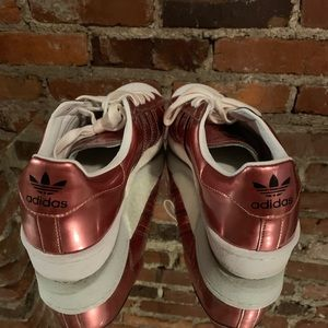Rose Adidas Sneakers Size 9 Metallic Pink